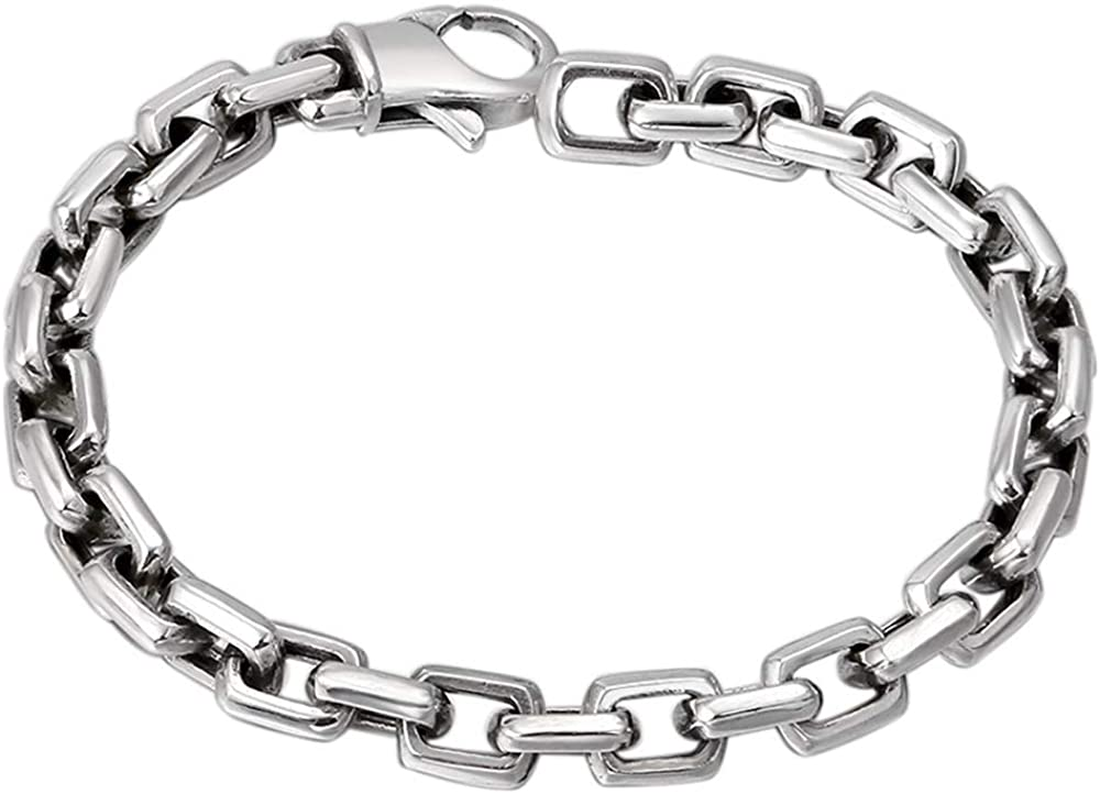 925 Sterling Silver Silver Bracelet For Men /& Women chain bracelet link bracelet Vintage Handmade Bracelet