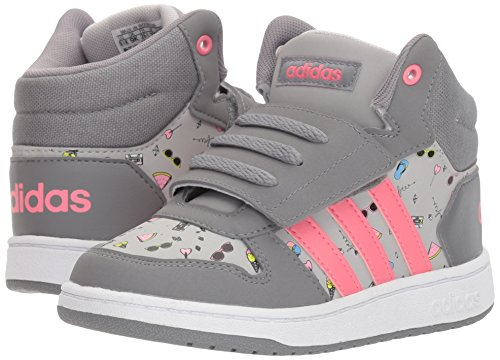 Adidas NEO Baby Vs Hoops Mid 2.0 I, Grey Three/chalk Pink/Grey Two, 5 M US Toddler