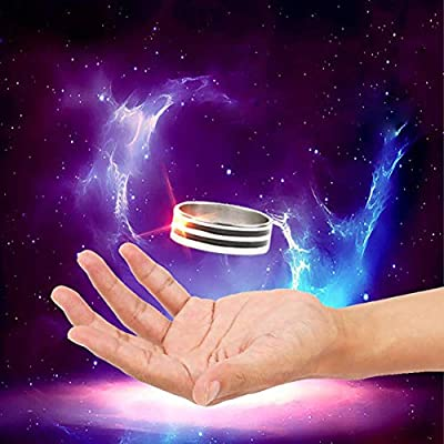 Byhoo Magic Floating Ring Magic Tricks Invisible Magical Gimmick Magician Rings Stage Illusion Mentalism Mystery Toys for Kids Adults Hobbyist: Toys & Games