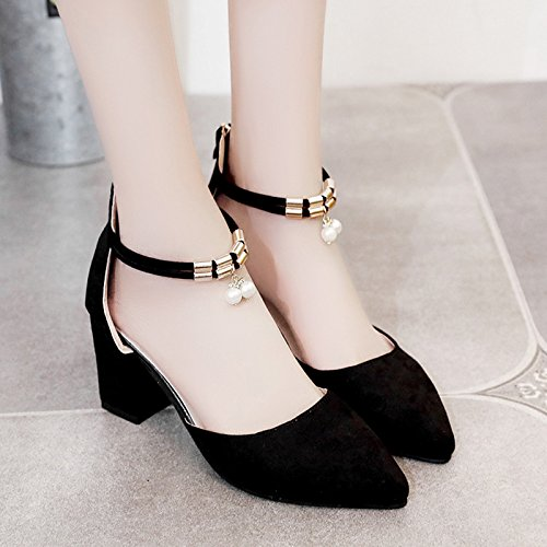 À High Sandales Avec Épais Fille Sangle Filles EU35 Chaussures Heeled Des Fente Chaussures SHOESHAOGE Rome 5q1aU4
