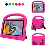 MENZO Kids Case for Samsung Galaxy Tab A 8.0 2018(SM-T387), Light Weight Shockproof Handle Stand Kids Friendly Case for Samsung Galaxy Tab A 8-inch 2018 Released Tablet- Rose