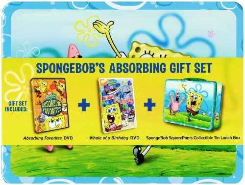 SpongeBob's Absorbing Gift Set (Absorbing Favorites DVD / Whale of a Birthday DVD / Collectible Tin Lunch Box)