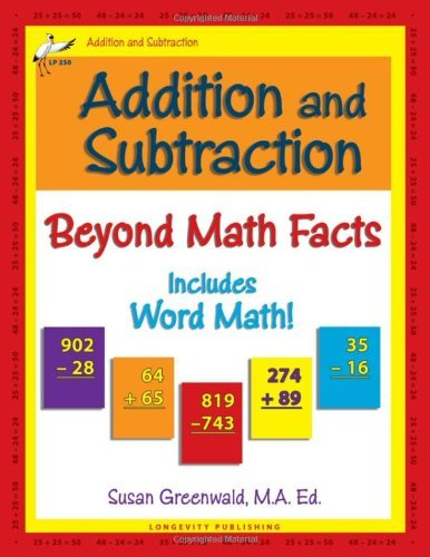 Addition and Subtraction: Beyond Math Facts by Susan R. Greenwald (2012-07-30)