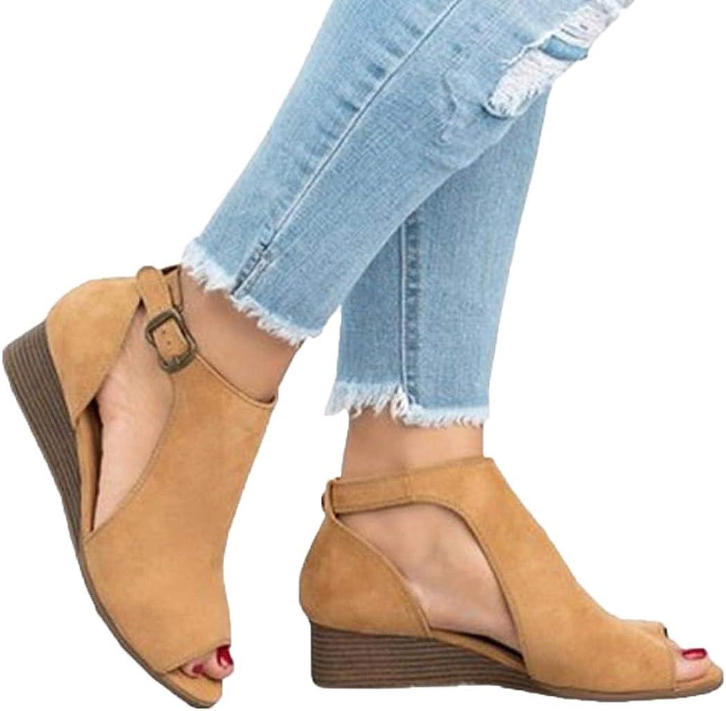 Sandals Wedge Peep-Toe Shoes Sandals