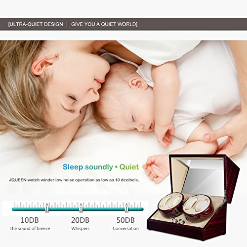 JQUEEN Automatic Quad Watch Winder with Double Quiet Mabuchi Motors by JQUEEN (Image #3)