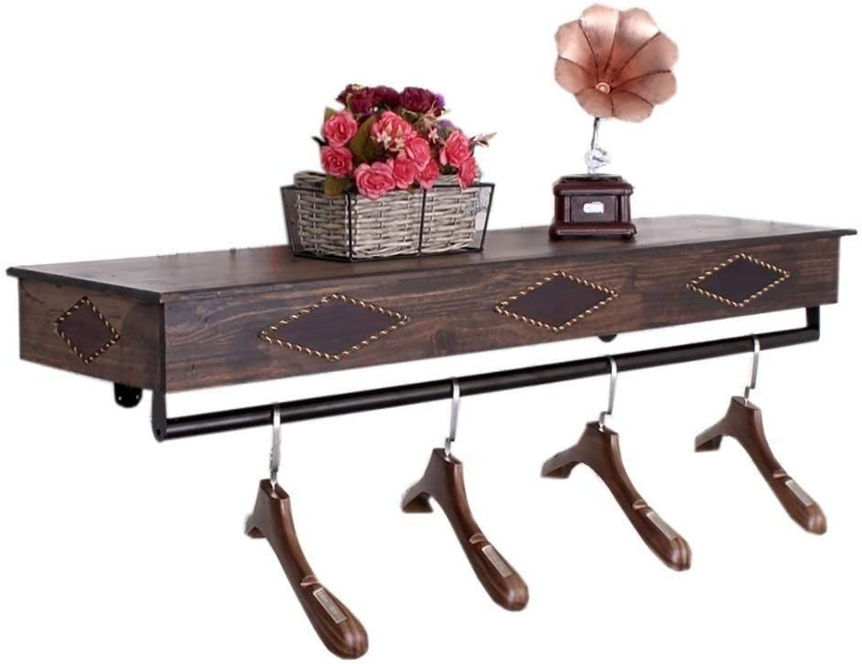 W Bgymj Clothes Rack Loft Wall Mounted Clothes Rack Rustic State Industrial Wall Mount Double Pipe Hanger Holder Rack Clothes Bar Towel Holder Hanger Bathroom Living Room Home Kitchen