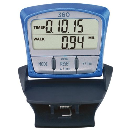 Sportline 360 Total Fitness Pedometer To Accurately Measure Walking/Jogging Steps, Distance And Calories Burned