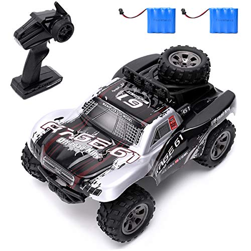 (Vinciph RC Car 2.4Ghz High Speed Racing Car 18km/h 1:18 Scale 2WD Control Truck Off-Road Vehicle Buggy Hobby Electronic Toy,Remote Control Car for Kids Two Rechargeable Batteries)