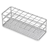 Stainless Steel Test Tube Rack, 25mm, 24 Place, Wire Constructed, Karter Scientific 234O3 (Single)