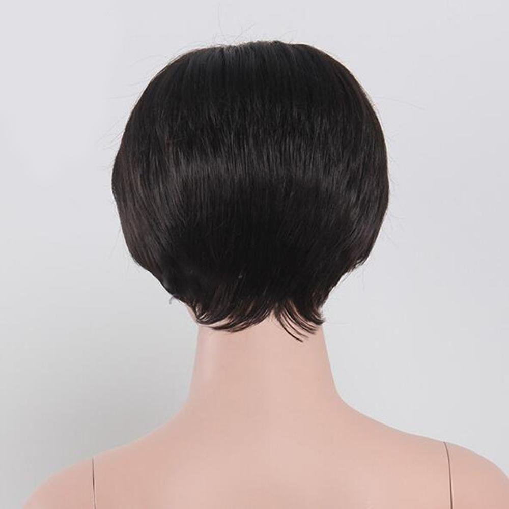 New Wg Kinder Perücken Schwarze Kurze Glatte Haare Bobo