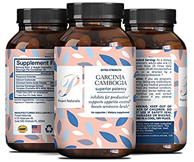 Pure Garcinia Cambogia Extract – 95% HCA – Boost Energy + Metabolism Booster Fat Burner + Promotes Healthy Weight Loss – Appetite Suppressant + Antioxidant – Supplement for Men & Women