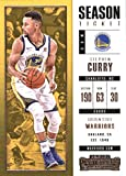 2017-18 Panini Contenders Season Ticket #11 Stephen Curry Golden State Warriors Basketball Card