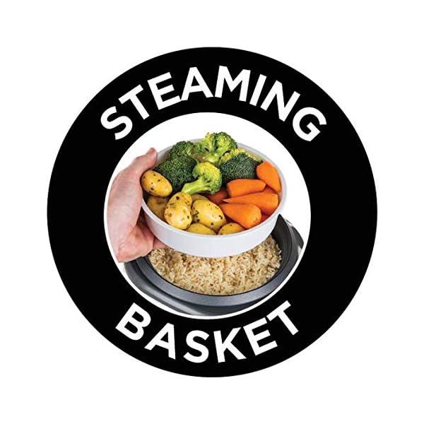 Russell Hobbs Cuociriso e Vaporiera 27080-56, 14 Porzioni, Include cesta per cuocere a vapore Carne e Verdure, Pentola e… 7