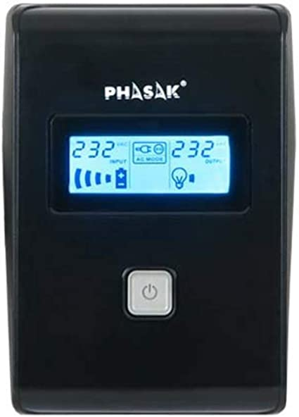 Phasak PH 9465 650VA LCD USB RJ45 Uninterrupted Power Supply