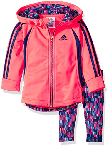 Price comparison product image adidas Baby Girls' Zip Jacket and Pant Set, Flash Red, 12 Months