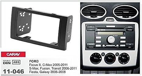 Carav 11 046 Doppel Din Autoradio Radioblende Dvd Dash Installation Kit Für Focus Ii C Max S Max Fusion Transit Fiesta Galaxy Kuga Faszie Mit 173 98 Mm Auto
