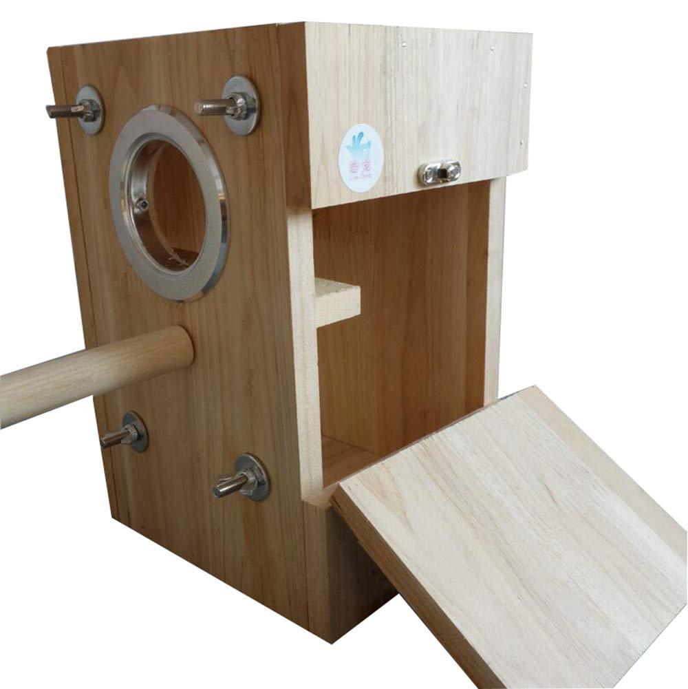 M YAMEIJIA Parred greenical breeding box bird nest wooden nest bird nest large parred breeding box S M L