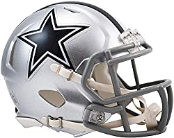 The Riddell Revolution speed mini helmet features a plastic facemask, realistic interior foam padding and vinyl-leather chin strap. Officially licensed by the National Football League. Size: 1/4 scale versions of NFL football helmets. If a product is...