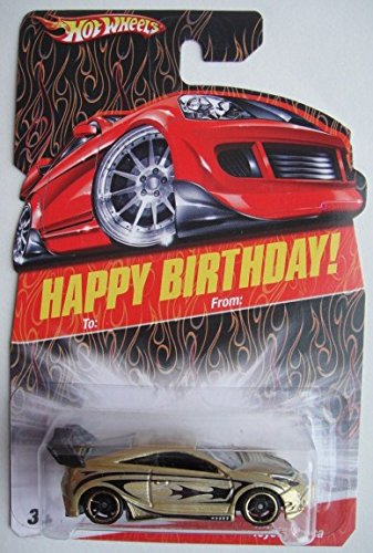 Price comparison product image Hot Wheels HAPPY BIRTHDAY CARD, GOLD/BLACK TOYOTA CELICA 5OSP
