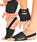 portable pilates studio - Yoga Paws Elite - Padded Yoga Gloves and Yoga Socks - Portable Travel Yoga Mats for Yoga, Pilates, and Fitness - Yoga Accessories For Women and Men, Classic Black, (Size #3) Women's Wide/ Men's Narrow hand & foot