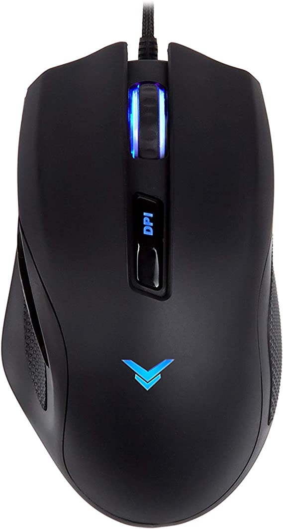 AmazonBasics Multi-color Ergonomic PC Gaming Mouse - Programmable Macros