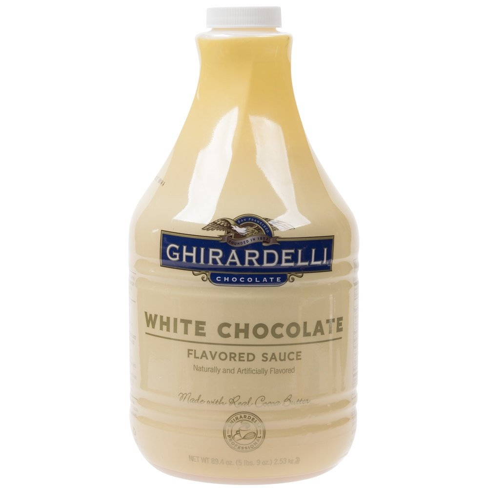 Ghirardelli Chocolate White Chocolate Flavored Sauce, 89.4-Ounce Package