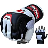 RDX Cow Hide Leather MMA Grappling Gloves UFC Cage Fighting Sparring Glove Training T3