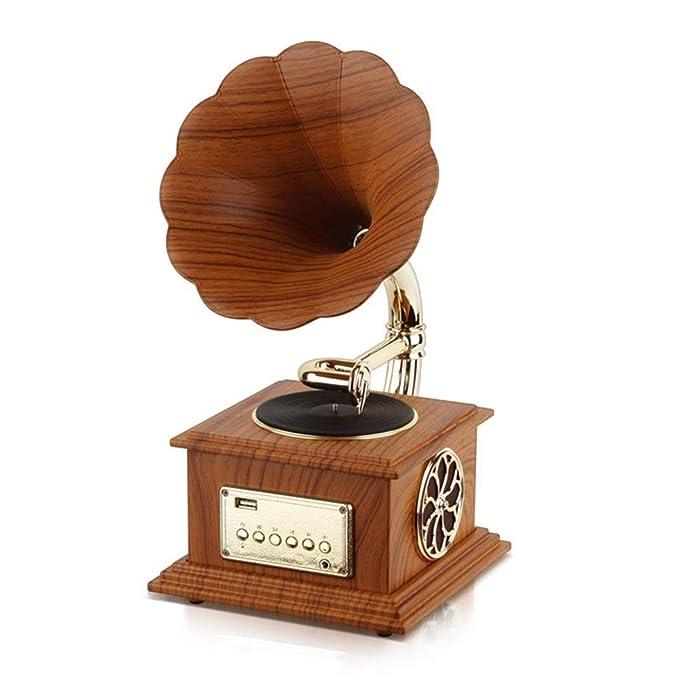 Tocadiscos Retro Radio Vintage Retro Horn Turntable Bluetooth ...