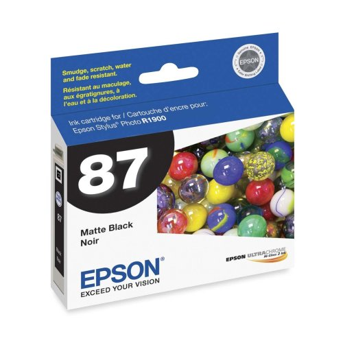 Epson America Inc. Products - Ink Cartridge, For Stylus Photo R1900, Matte Black - Sold as 1 EA - Ink cartridge is designed for use with the Epson Stylus Photo R1900. Engineered to give you optimum photographic output. Provides superior resistance to water, fading and smudging. from Epson