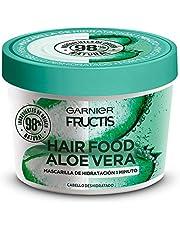Garnier Fructis H5537200 Mascarilla para Cabello Natural Vegana Anti Frizz con Fructis Hair Food, Verde, 350 ml