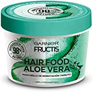 Garnier Fructis H5537200 Mascarilla para Cabello Natural Vegana Anti Frizz con Fructis Hair Food, Verde, 350 m