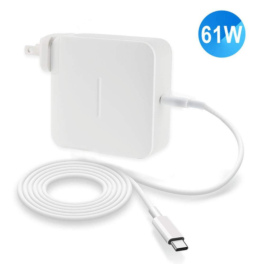 61w USB C Power Adapter Compatible with MacBook pro 13-inch/MacBook 12-inch and More,Type-C Replacement Laptop Charger with Extension Cord and USB C Cable by RAYDOSOM