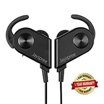 [Upgraded Version]Jayspree Bluetooth Headphones, Wireless 4.1 Magnetic Earbuds Stereo Headset, Secure Fit for Sports with Built-in Microphone,Sweatproof ,Noise Cancelling(Black)