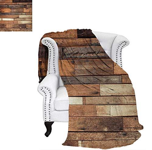 Digital Printing Blanket Rustic Floor Planks Digital Printed Grungy Look Farm House Country Style Walnut Oak Grain Image Summer Quilt Comforter 90