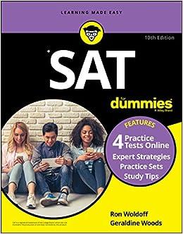 SAT For Dummies: Book + 4 Practice Tests Online: Amazon.es ...