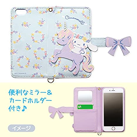 89d730088 Amazon.com: Sanrio Hello Kitty Friend Cinnamorol iPhone 6s iPhone 6 wallet  case(Pastel) Mirror and card pocket strap hole: Cell Phones & Accessories