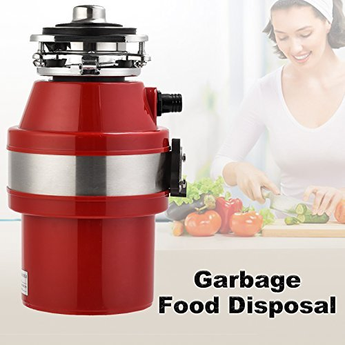Garbage Disposals-KUPPET 2600 RPM 1.0 HP Household Continuous Food Feed Waste Garbage Disposal With Power Cord for Home Kitchen-Red by KUPPET (Image #3)