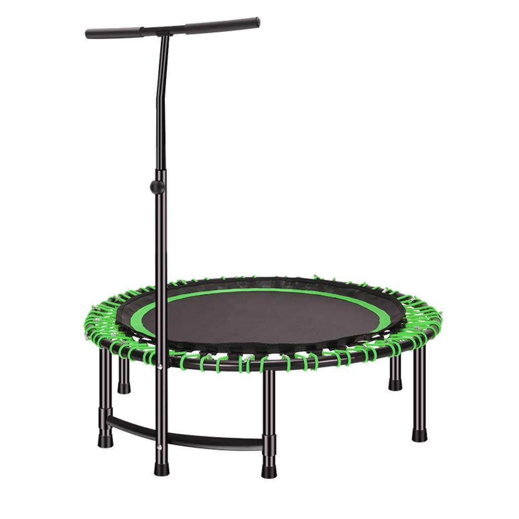 Green 11211234 cm Indoor Trampolines Trampoline Elastic Fitness Trampoline Adult Gym Training Trampoline Professional Handle Elastic Trampoline (color   Green, Size   112  112  34 cm)