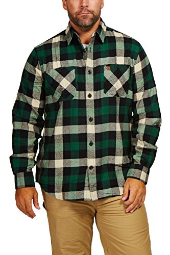 Coleman Y/D Flannel Shirt With Bias Pockets (Large, Green Black)