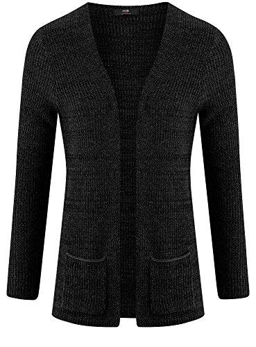 Cardigan Tricoté Noir Pour Fermeture Sans Hommes Ultra 2925e Oodji rw7Ir
