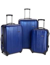 Traveler's Choice Luggage Toronto Three-Piece Hardside Spinner Luggage, Navy, One Size