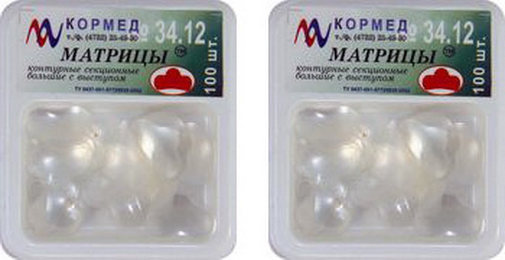 Dental transparent sectional contoured matrix large with ledge (2 pack)