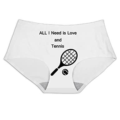 Boozgb Ladies Ice Silk Underwear Alli Need Is Love and Tennis Panty Comfortable Invisible Briefs For