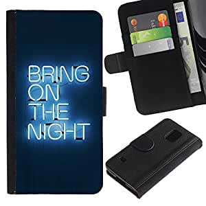 UNIQCASE - Samsung Galaxy S5 V SM-G900 - Bring On The Night Neon - Cuero PU Delgado caso cubierta Shell Armor Funda Case Cover