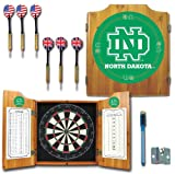 NCAA University of North Dakota Wood Dart Cabinet Set
