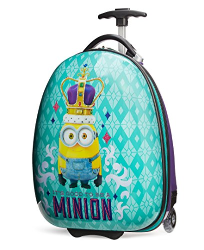 Travelpro Minions Kid's Hard Side Luggage, Turquoise/Purple, One Size