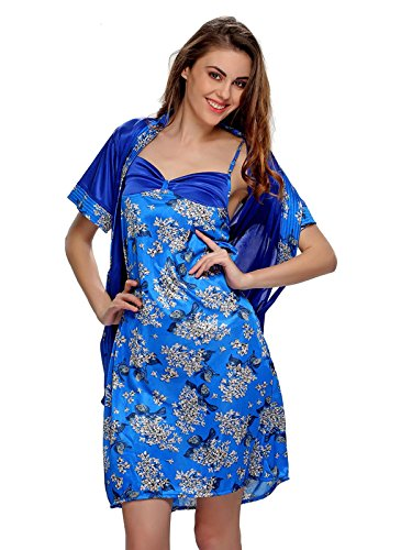 Clovia - Camisón - para mujer Azul