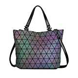 SAMSHOWME Luminous Women Purses Top Handle Satchel Daily Work Tote Shoulder Bag Medium Capacity