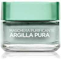 L'Oréal Paris Maschera per il Viso Argilla Pura Purificante con Eucalipto, Purifica e Opacizza la Pelle, 50 ml, Confezione Singola