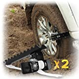 EZUNSTUCK Car Tire Anti-Skid Tool - RWD/AWD/4x4 SUV, Trucks, Pickup – EZ-D02LX Ultimate Get Unstuck Solution for Mud, Sand, Snow, ice, Off-Road - Better Than Traction Mat,Tire Chains (Large/Set of 2)